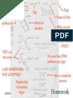 Homework Format for EMCH Class
