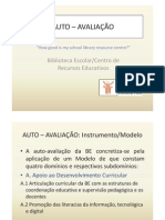 3.º Trabalho - MODELO DE AUTO-AVALIAÇÃO - Apresentação PowerPoint