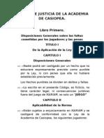 Código de Justicia de la Academia de Casiopea.