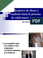 Indicadores de Abuso y Maltrato Hacia Las Personas de Edad Mayor