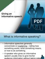 Giving an Informative Speech