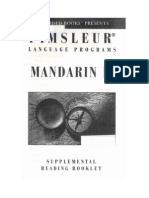 Pimsleur - Mandarin Chinese II - Reading Booklet