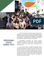 Programa Voces CEMUC 2015