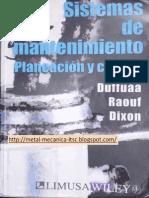 Sistemas de Mantenimiento Planeacion y Control Por Duffuaa, Raouf y Dixon