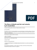 The Story of Atlantis and the Lost Lemuria, By W.scott-Elliot