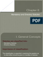 Chapter 8 Mandatory and Directory Statutes