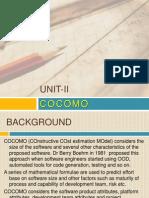 Unit II Cocomo
