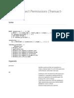 GRANT Object Permissions (Transact-SQL)