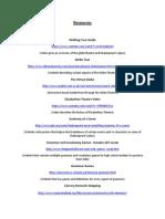 Resource List for Ed Tech Website