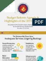 [Presentation] 2015 Budget Presentation_Northern Luzon_Asec. Castillo