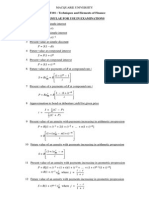 Uni Lecture Finance Formula Sheet