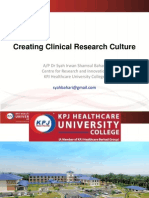 Dr Irwan Shah_Creating Clinical Research Culture