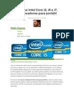Nuevos Intel Core i3