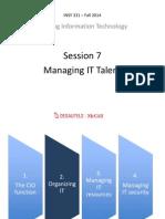 Managing IT; 7 - Managing IT Talent