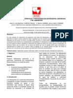 ANÁLISIS DE LAS CARACTERÍSTICAS Y PROPIEDADES DE DETERGENTES JABONOSOS Y NO JABONOSOS