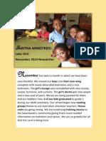 Tabitha Nov 2014 Newsletter-PDF