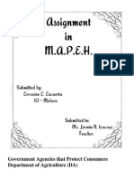 Assignment in M.A.P.E.H.