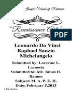 MAPEH Renaissance