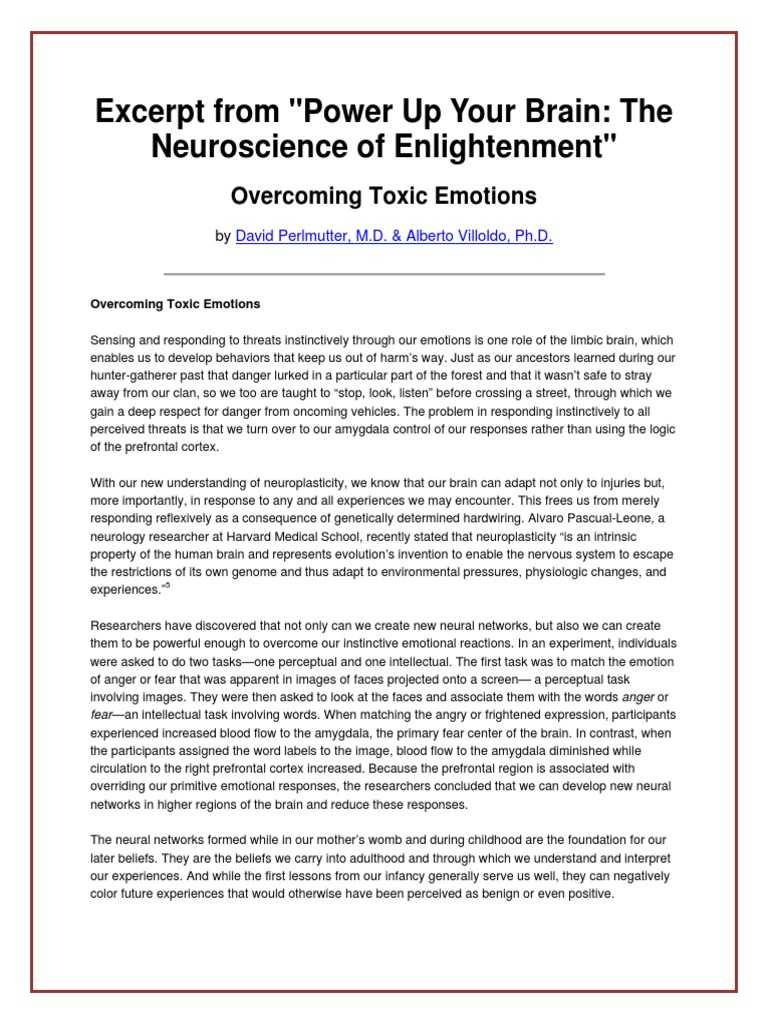Power Up Your Brain | Emotions | Self-Improvement