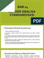 metode analisa standardisasi