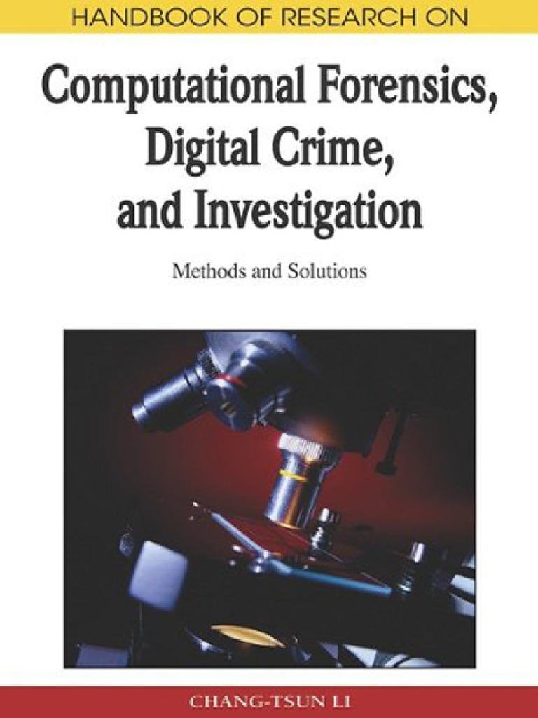 Handbook Of Research On Chang Tsun Li For Reversible Decade Counter Circuit Diagram Tradeoficcom Computational Forensics Digital Crime And Investigation Methods Solutions