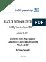 Usage of TRIZ for Product Planning-Sawaguchi(Waseda_U)100726