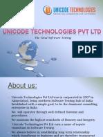 Unicode Technologies Pvt. Ltd. - Software Testing Training