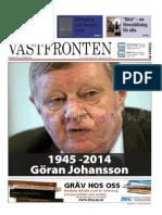 Västfronten 24 okt 2014