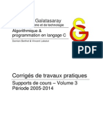Algorithmique & programmation en langage C vol.3 - Corrigés