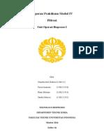 Laporan Praktikum Filtrasi Teknik Kimia