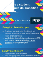 transition year- why a student should do ty