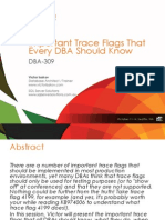 SQL Pass Summit 2011-Important Trace Flags That Every DBA Should Know-Victor Isakov