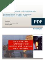 Entreprenørseminar - StatoilHydro