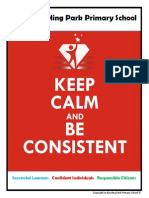 Keep Calm and Be Consistent Booklet