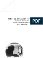 Website Creation Training