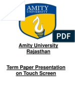Touch Screen Term Paper