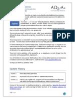 AQuA Best Practices Doc v2 2 FINAL 5 Feb 2013