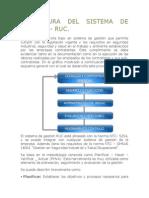 Estructura Del Sistema de Gestión RUC
