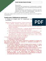 Corrigé du devoir de deux heures préparatoire à l'Epreuve Composée Partie 1 Et 2