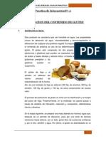 determinación del contenido del gluten en harinas