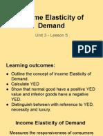 unit 3 - lesson 5 income elasticity of demand