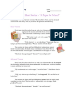 Intermediate Short Stories With Questions - A Paper for School