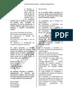 Exercício - Estatuto Estadual do Servidor Público do RJ DL 220