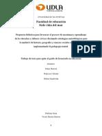 Pedagogía Teatral - Propuesta Pedagogica