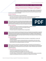 Framework for Teaching Rubric