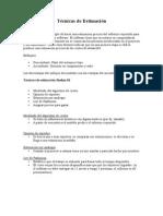 Técnicas de Estimación - Software