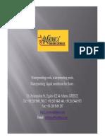 Waterproofing Polyurethane Membrane Applications