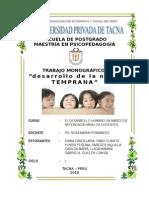 Monografía Niñez Temprana- Postgrado