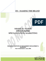 Marketing - Case Study - Naming the Brand (Revised Version)