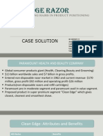 clean edge razors marketing case study Clean edge razor splitting hairs in product positioning case study solution & analysis in most courses studied at harvard business schools, students are provided with a case study.